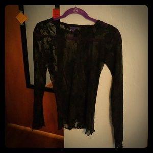 Gorgeous black lace top